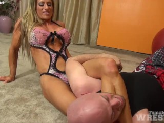 Sexy Maria G And Her Huge Tits Finds Herself Wrestling Another Hapless Male