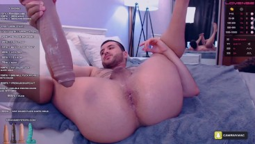 Destroy hole with huge dildo from mrhankeytoys on chaturbate