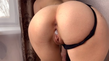BABY PUSHED BACK HER PANTIES AND ASKED TO FUCK HER | CREAMPIE