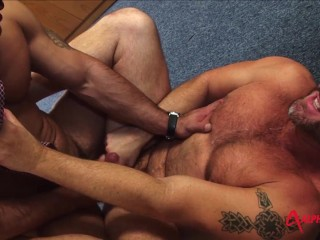 Hunks out office...