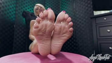 My Bare Feet Take your Cum - Feet JOI - Nikki Ashton