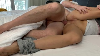 hot morningfuck switching holes ends with female orgasm