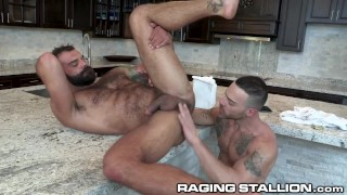 RagingStallion - Drake's Hairy Ass Rimmed By Delivery Guy