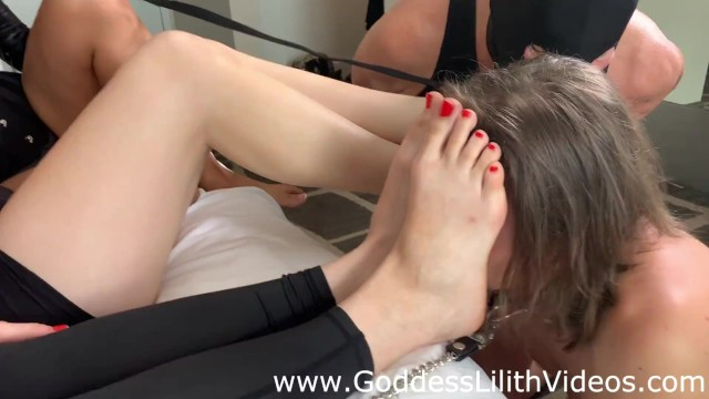 2 Lucky Boys worship 3 Pairs of Goddess Feet 17