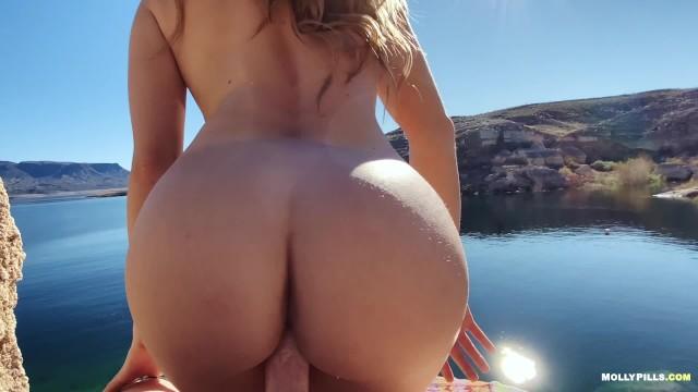 Amateur Adventure Porn - Molly Pills - Lakeside Fucking POV 11