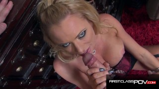 Legendary Bombshell Briana Banks Suck and Fuck a Huge Cock in POV