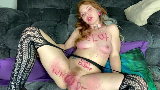 Fetish;Teen (18+);Red Head;Small Tits;Role Play;Exclusive;Verified Amateurs;Solo Female;Tattooed Women kink, petite, redhead, pussy-slaps, face-slap, face-slapping, slut, whore, submissive, knotted, hitachi