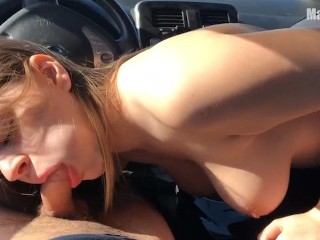 HOT PUBLIC SEX IN A CAR – in the middle of the winter field