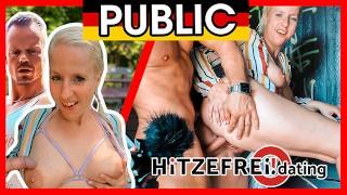 Random Dude Bodo BANGS Milf Slut Jana Schwarz in Park hitzefrei.dating