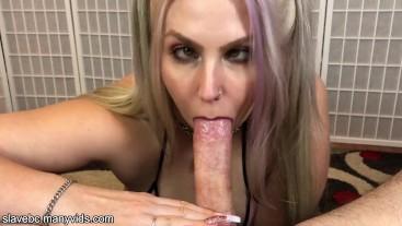 blonde ahegao deepthroat and throatpie pov (full video)