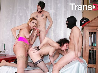 Trans bella bisexual group orgy for kinky hardcore...