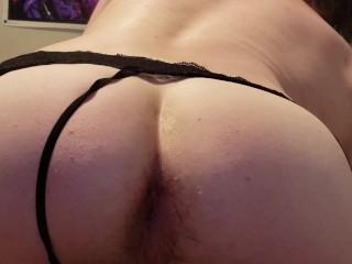 Fucks tight ass with huge dildo...