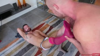 Kinky Bear Rims and Fucks his boy in Lingerie