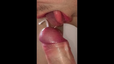 I Want To Catch My Cum In SLOW MO / Self Suck