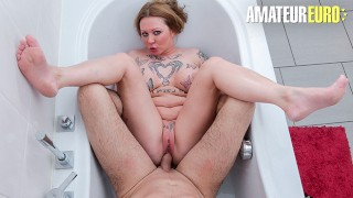 AMATEUREURO - Big Tits MILF Gets A Nice Hardcore Fuck In The Hot Tub