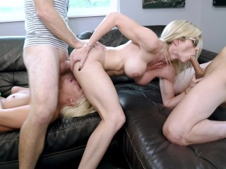 Horny MILFs with Huge Tits Give Up Their Asses Cory Chase and London Rivers