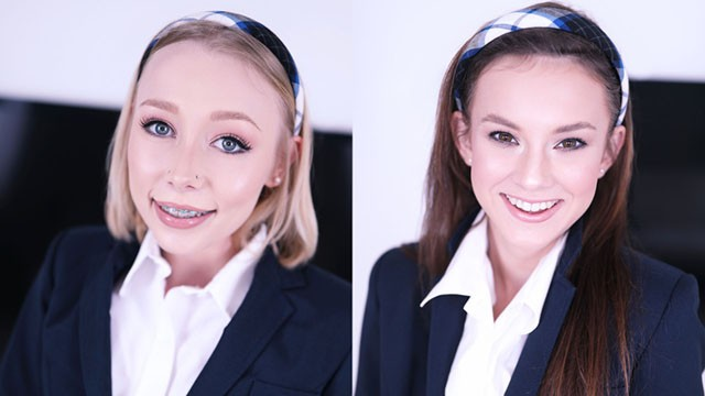 Tabetha amateur allure Schoolgirls athena may ellie eilish train at the swallow academy