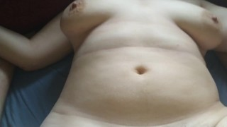 girl stuffed & unprotected creampied by fat stepdaddy's cock