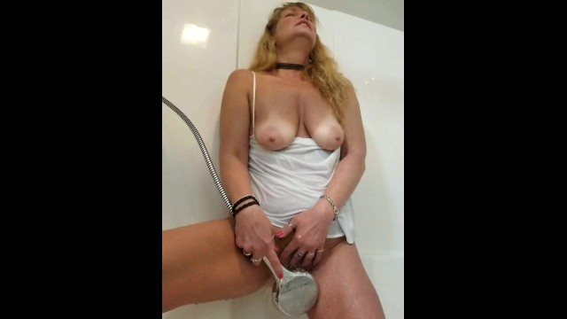 Tying bikini with no tan lines Sweet milf with tan lines big tits playing in shower