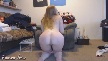 Post workout orgasm with butt plug
