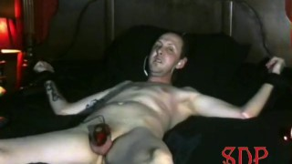 Cumming Twice From Electric Chastity Cage