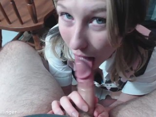 V98 sexy school girl sucks class old video...