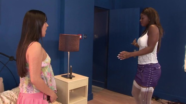 My ebony girlfriend offers a lesbo private show 19