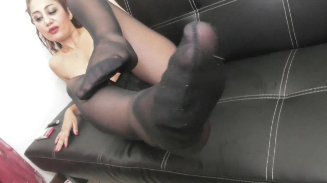 Lesbian Nylon Foot Domination