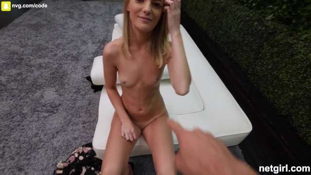 Petite Blonde Talked Into Coming Back and Fucks So Good, SWALLOWS TOO! 17