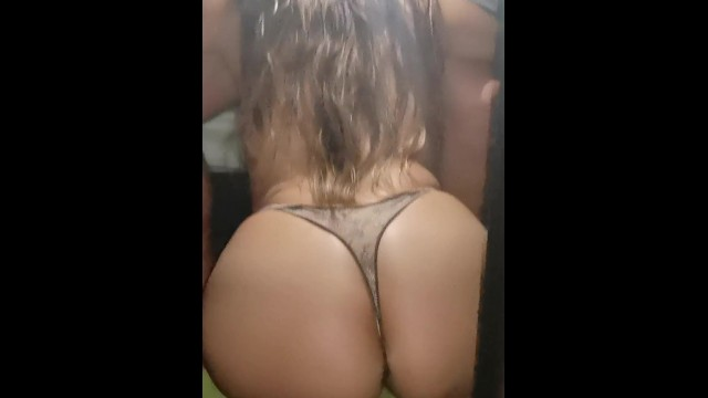 Thongs an ass My friend girlfriend sucks me rich and then fuck with her thongs