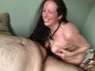 BBW Shyla Nervous and BHM Rex Behr Getting Inspired by Hot Lesbian Porn