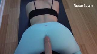 MILF Ass Worship: Dick Rubbing on Neighbor Wife Yoga Pants