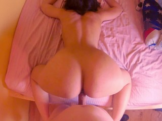 Amateur wife hard cock and got cum on...
