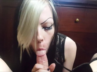 Sucking tgirl cock pov...