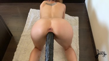 TEEN tight PUSSY STRETCHED with MONSTER BBC ^ LaraJuicy