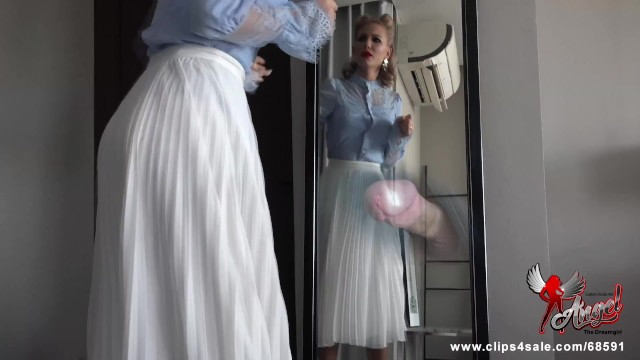 Vintage 60 s dress Hiding in angels dressing room -custom clip-