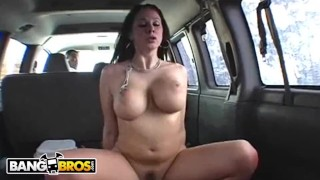 BANGBROS – Gianna Michaels Classic Riding Dick In Bang Bus Loop