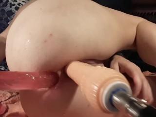 Double penetration dildo...