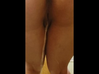 Standing pee (back view)