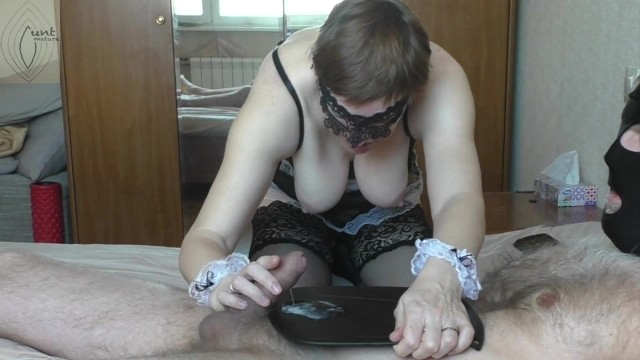 Lick nipples free pron - Maid brought me coffee and lick my nipples, i cum hands free and fed her