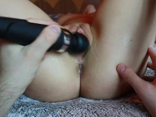 Domi lovense play. Huge vibrations. Clit massage. Lubed pink pussy. Shaved