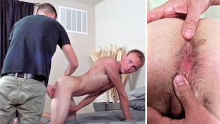 Loosening Up a Smooth Dude's Tight Hole – Ready to Raw Fuck!