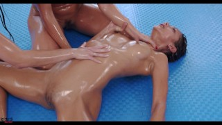 Wild 4-way Tap out Oil sexfight