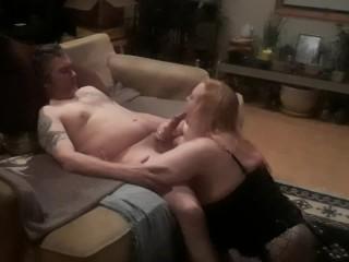 Big tit milf on big hard cock her...
