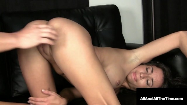 Gaping anus pics Wavy haired stephanie moretti gets ass fucked for first time