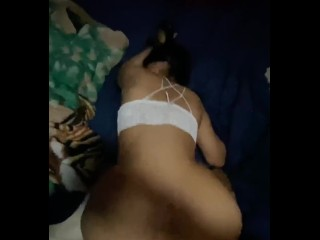 Big booty mexican and her creamy pussy...