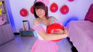 Lila Jordan- Valentine's day balloons pop