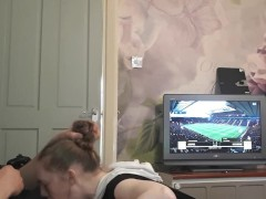 Distracting Daddy on FIFA; sloppy deepthroat facefucking with gagging