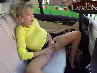 Masturbates while driving around town...