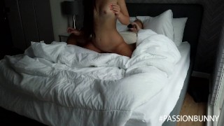 Morning pleasure with blowjob and cumshot from hot stepsister